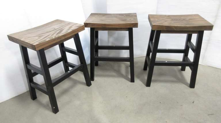 (3) Heavy Duty Stools