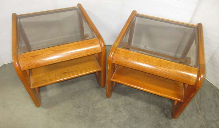 (2) Matching Oak End Tables