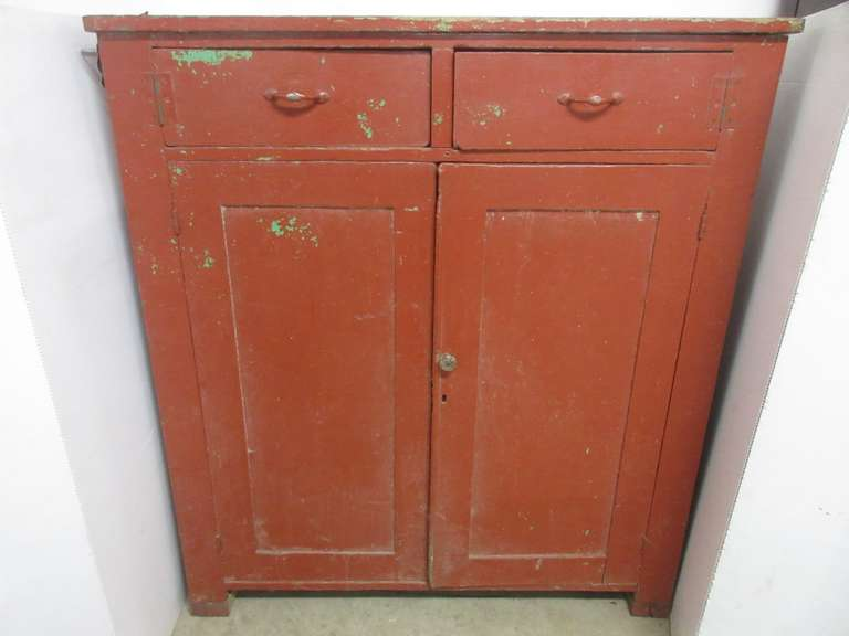 Red Primitive Pie Safe