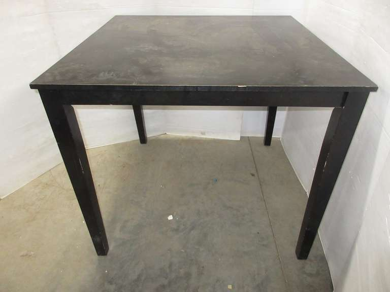 Black High Top Table, Standard Bar Stool Height