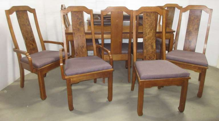Wooden Dining Room Table with (8) Chairs