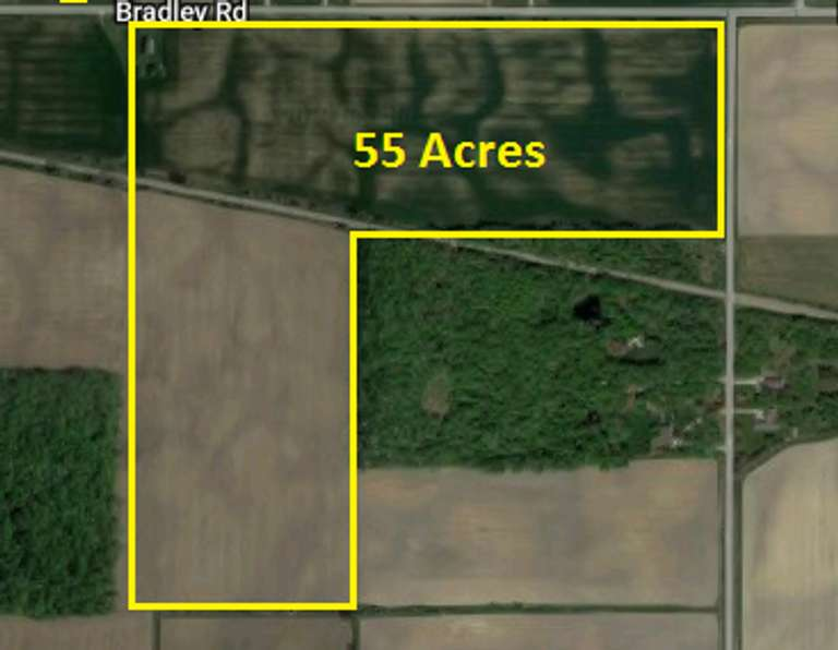Parcel #1: Approx. 55 Acres +/- located in NE 1/4 of Section 4, Frankenmuth Township, Saginaw County.
