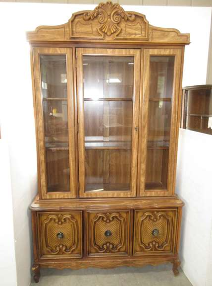 Step Back China Cabinet with Glass Front and Two Shelves