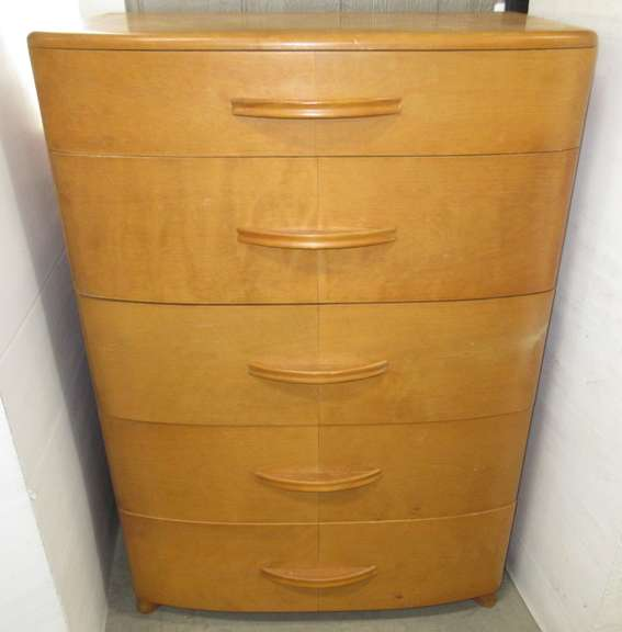 Antique Five-Drawer Dresser from the 1950s, Original, Never Redone, Matches Lot No. 8