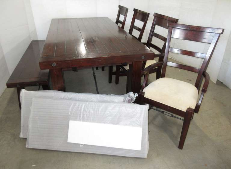 Marvelous Albrecht Auctions Kitchen Table 2 Chairs With Arms 2 Gmtry Best Dining Table And Chair Ideas Images Gmtryco