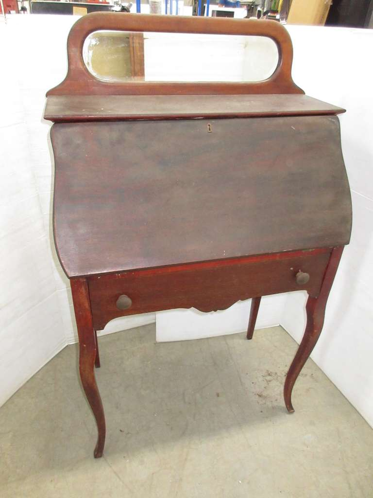 Antique Queen Anne Secretary with Mirror