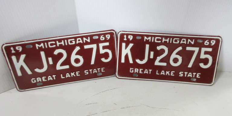 Pair of 1969 License Plates