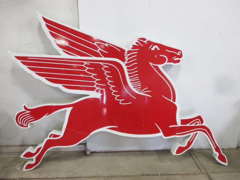 Contemporary Mobil Pegasus Cookie Cutter Gas Station Sign