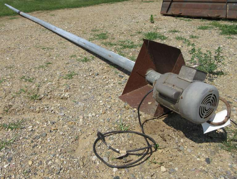 "4"" 30' Corn Auger with Electric Motor"