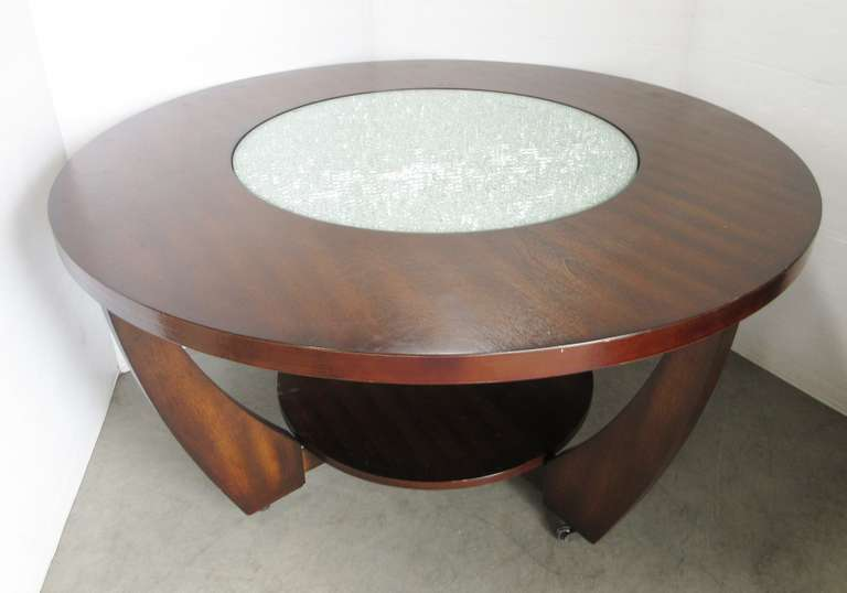 Table from Art Van with Glass Center