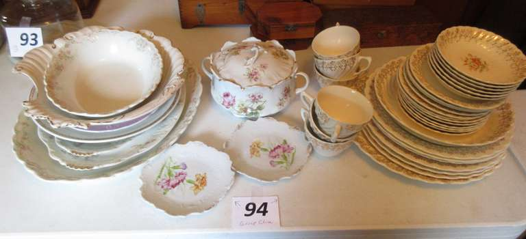 Set of 22K China and Other China, Including:  RC Bavaria Biscuit Jar