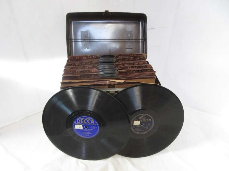 Case of Old Record Albums