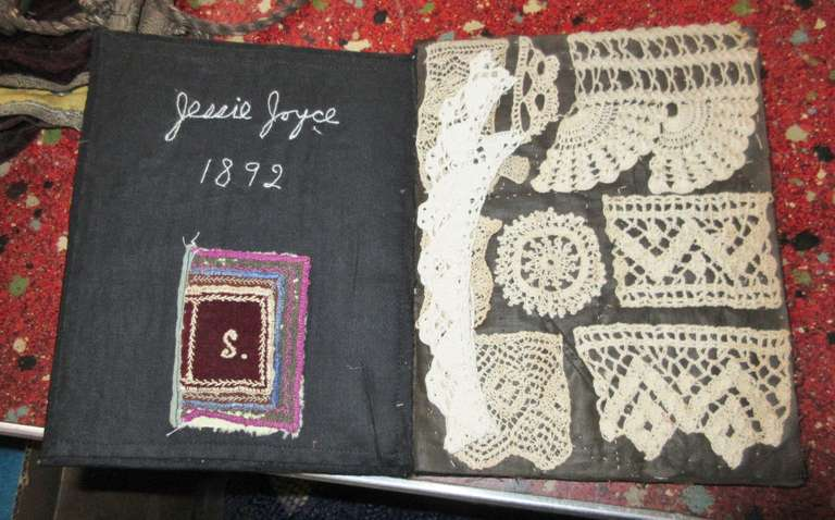 "1892 Crochet Sampler Book by Jessie Joyce, Book is 6"" x 8"" Closed"