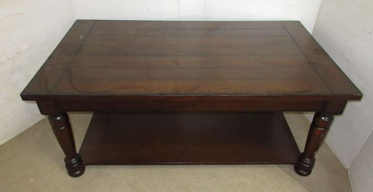 Dark Colored Coffee Table, Matches Lot No. 7