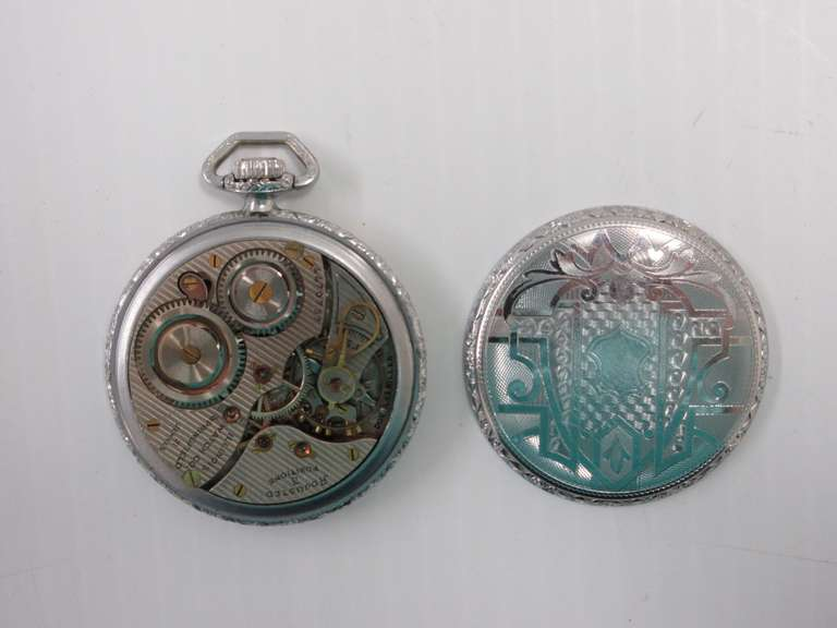 "Illinois Springfield 21-Jewel Pocket Watch, Adj. Three Position, No Crystal, Serial No. 4470757, Not Running, 1 3/4""Dia"