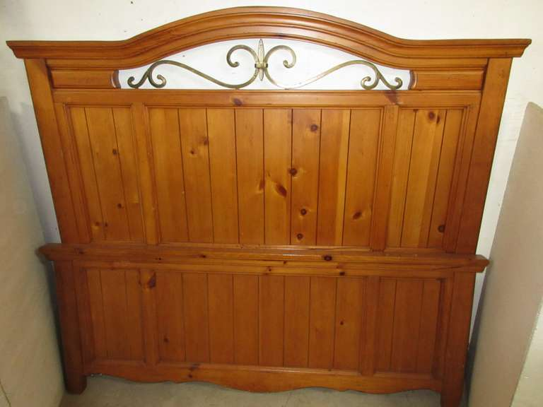 Mission Style Pine Headboard and Matching Footboard for Queen Size Beds