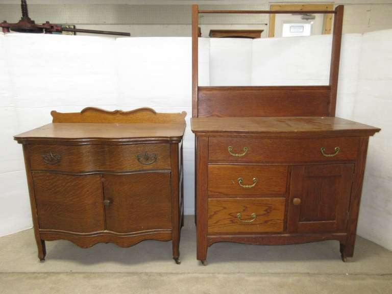 Old Wash Stand Dresser and Small Dresser