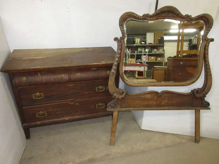 Older Victorian Dresser with Mirror