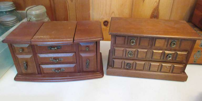 (2) Jewelry Boxes with Jewelry, Includes a 10K Ring