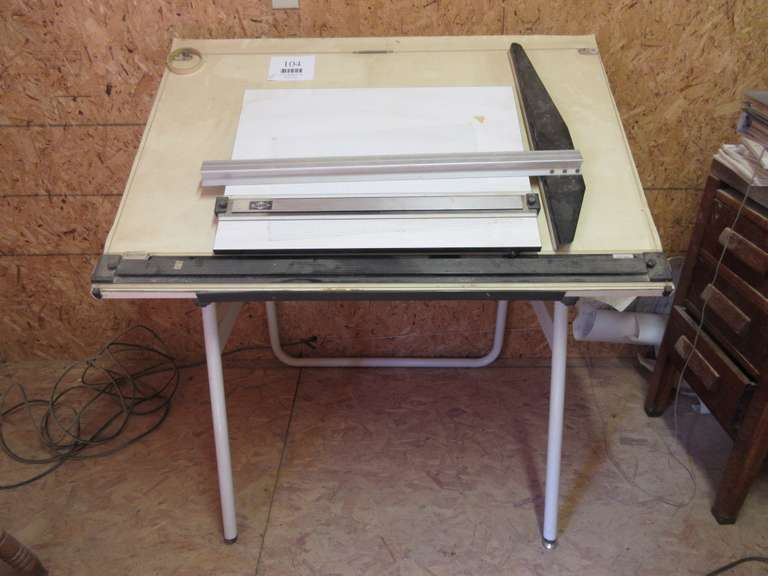 Drafting Table with (2) - T-Squares