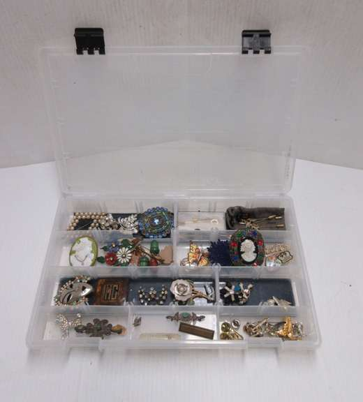 Old Costume Jewelry, Including: Cameo Broaches (Pins Missing), Hatpins, and More