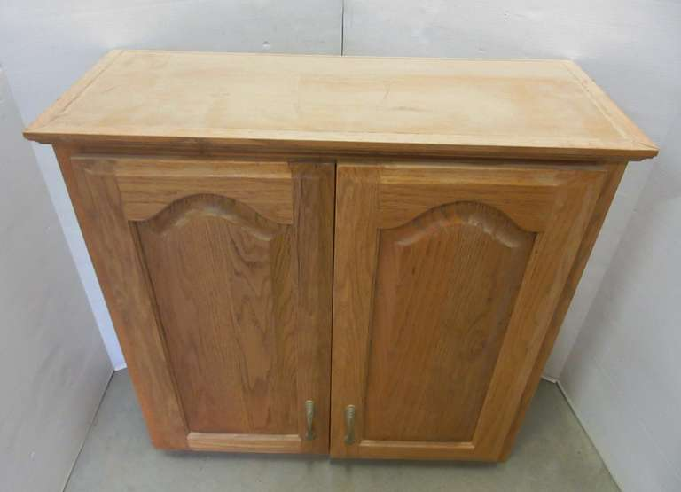 Oak Hardwood Cabinet with Shaper accessories and assorted tools
