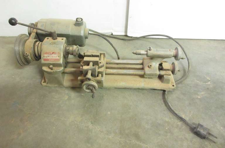 "Unimat Old Belt-driven Lathe - 16""L"