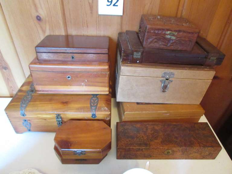 (10) Assorted Wooden Boxes