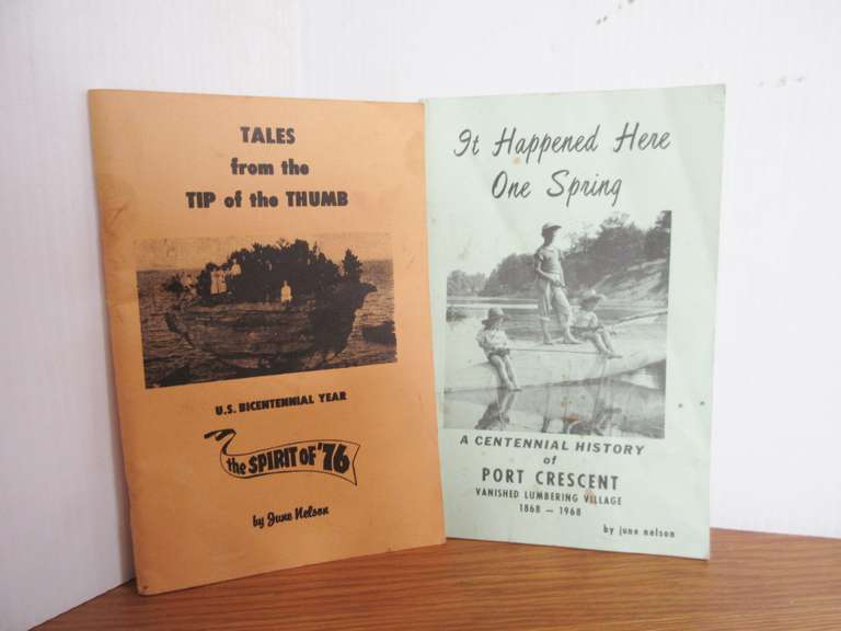 1968 Port Crescent Centennial Book and Tip of The Thumb Book by June Nelson