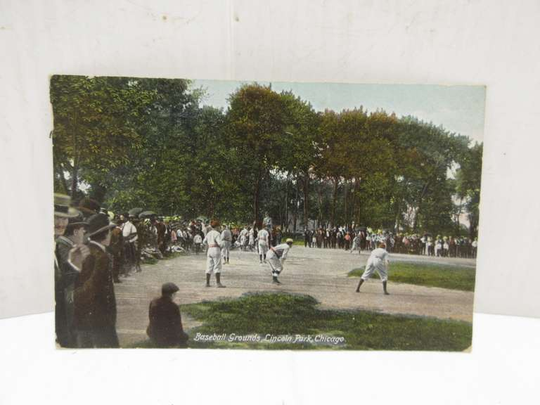 1909 Baseball Grounds, Lincoln Park, Chicago Post Card