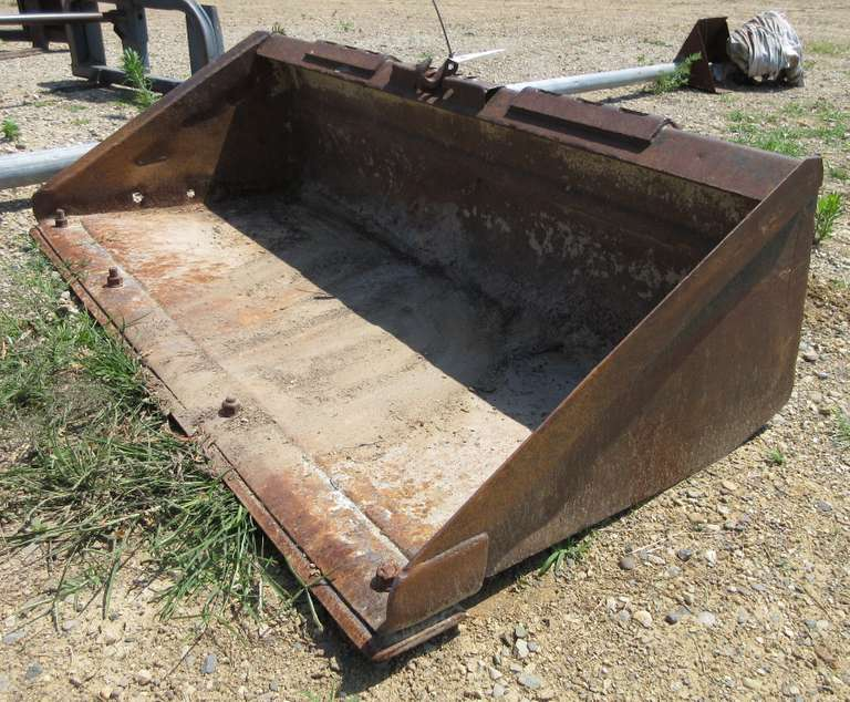 "Skidsteer Bucket, Front Cutter Blade on Front, 5'6"" x 30""D, Very Good Condition"