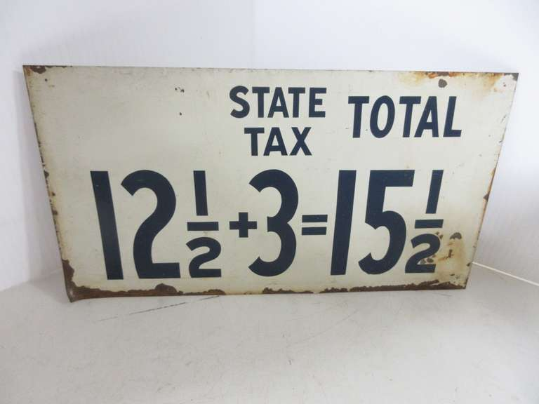 Double-Sided Metal Gas Station Older Price Sign