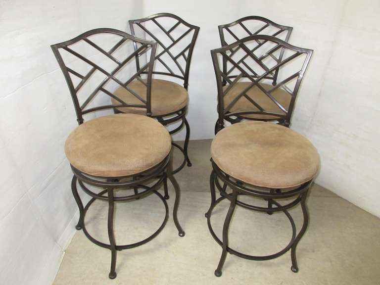 (4) Swivel Snack Bar Chairs