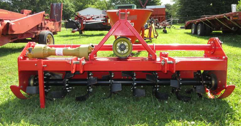 "80"" 3-Point Hitch Heavy Duty Rototiller, Gear Driven, 16"" Blades, 7', Model TMG80, Used Twice"