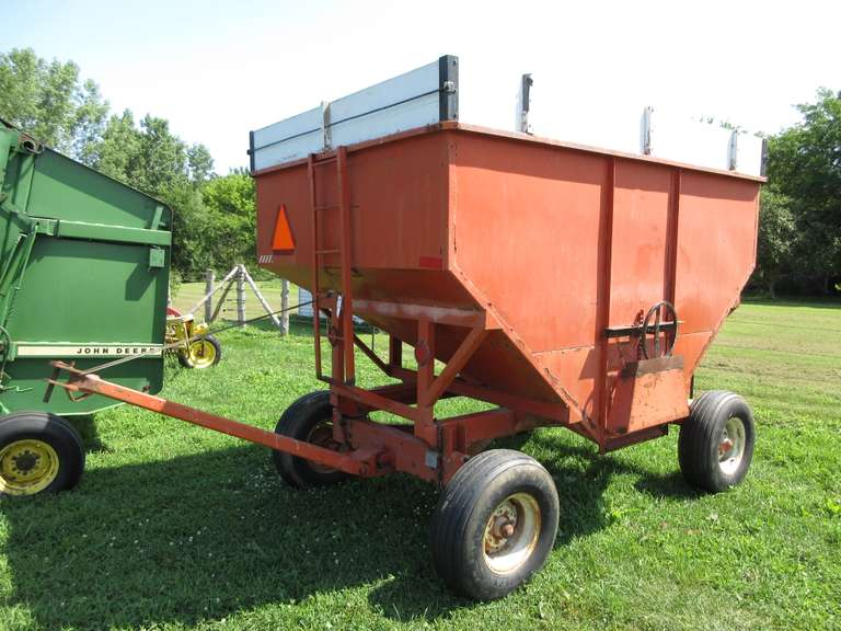 "200 Bushel Gravity Wagon with 12"" Top Extension, 10-Ton Running Gear, Tires are Fair"