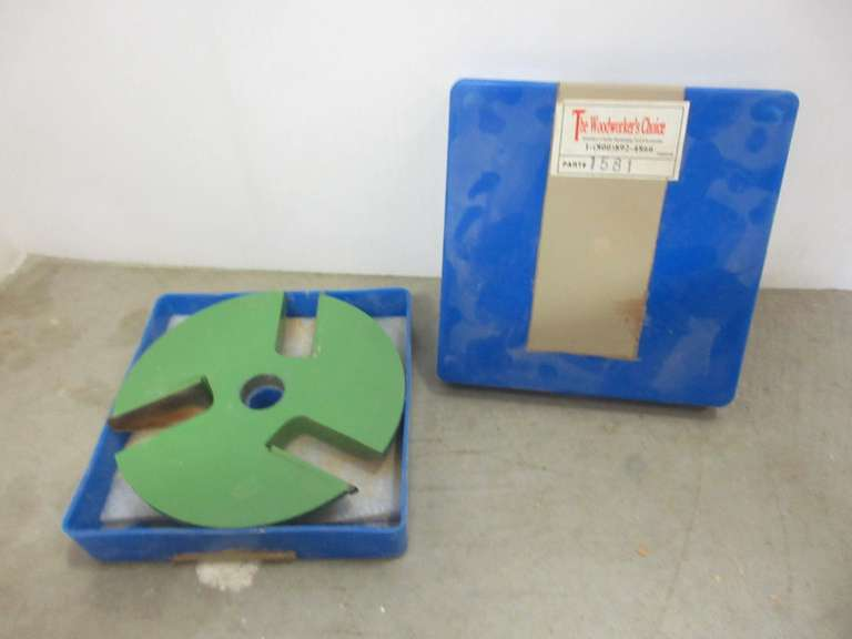 "The Woodworkers Choice Shaper Cutter, 4 7/8"" Dia, 3/4"" Bore, Part No. 1581"