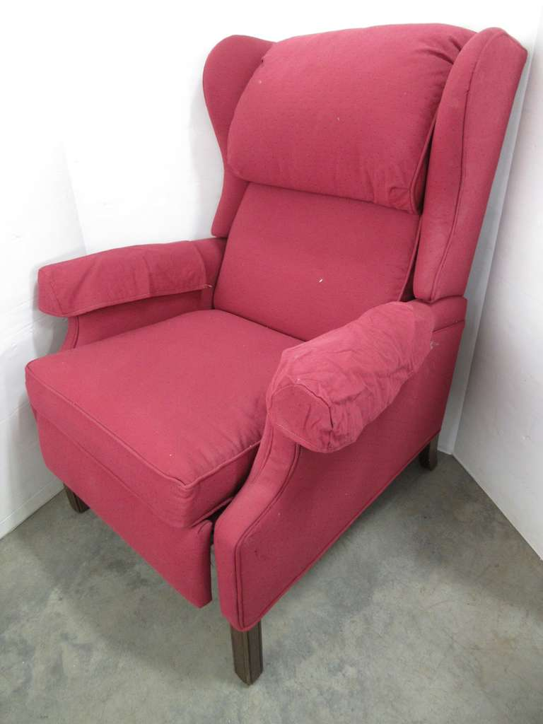 Red Wingback Chair, Reclines