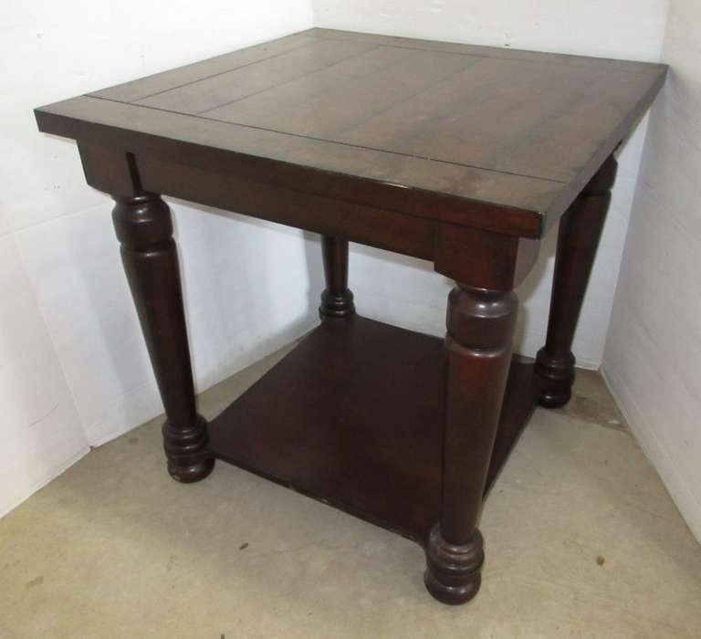 Dark Colored End Table, Matches Lot No. 8