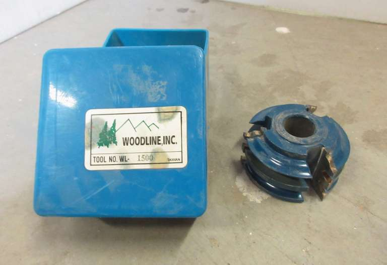 "Woodline Shaper Cutter, 2 1/2"" Dia, 3/4"" Bore, Tool No. WL-1500"