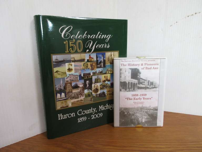 Huron Co. 150 Years Book and History of Bad Axe DVD
