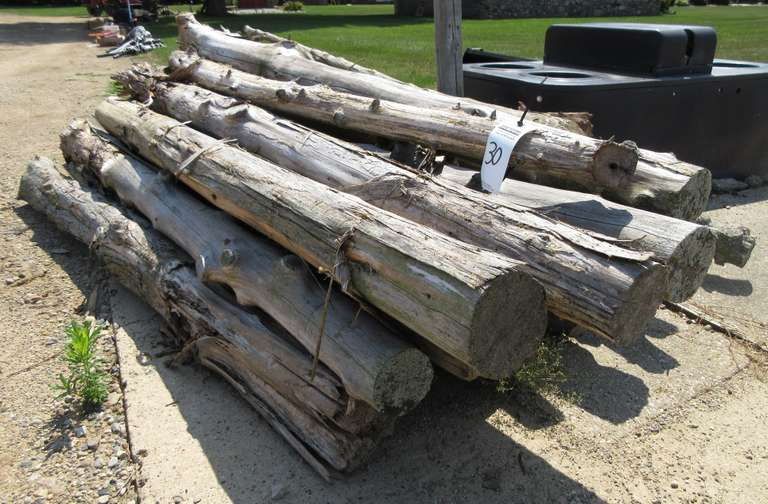 Pile of Approx. 7' Cedar Posts