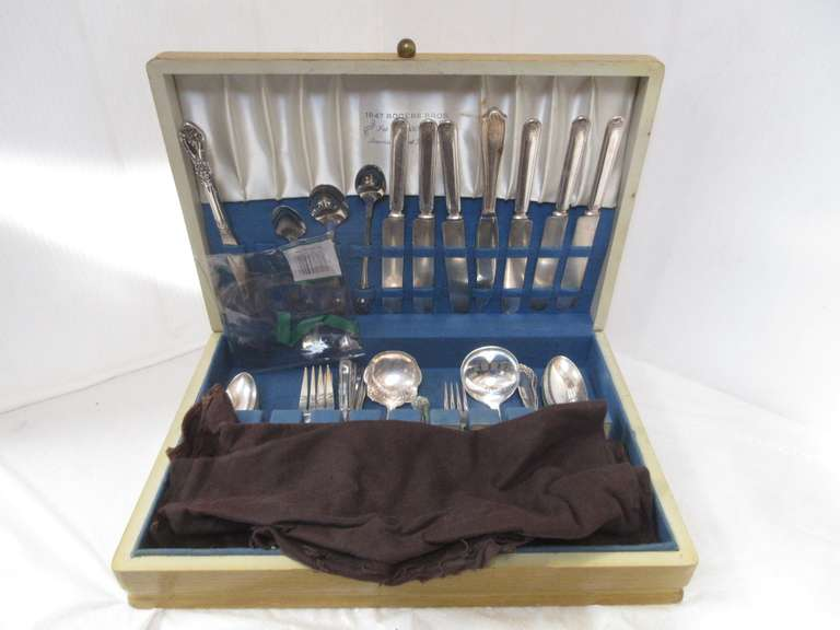 Old Rogers Flatware Service for Six and Extras