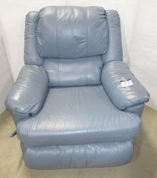 Lane Leather Recliner, Blue
