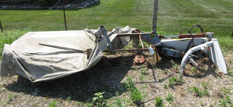 New Idea 5408 Discbine Mower, 3-Point Hitch, Works but Needs Work