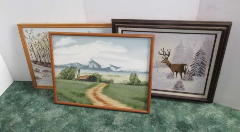 "(3) Oil Paintings by Marie Wahl, Approx. 24"" x 19"""