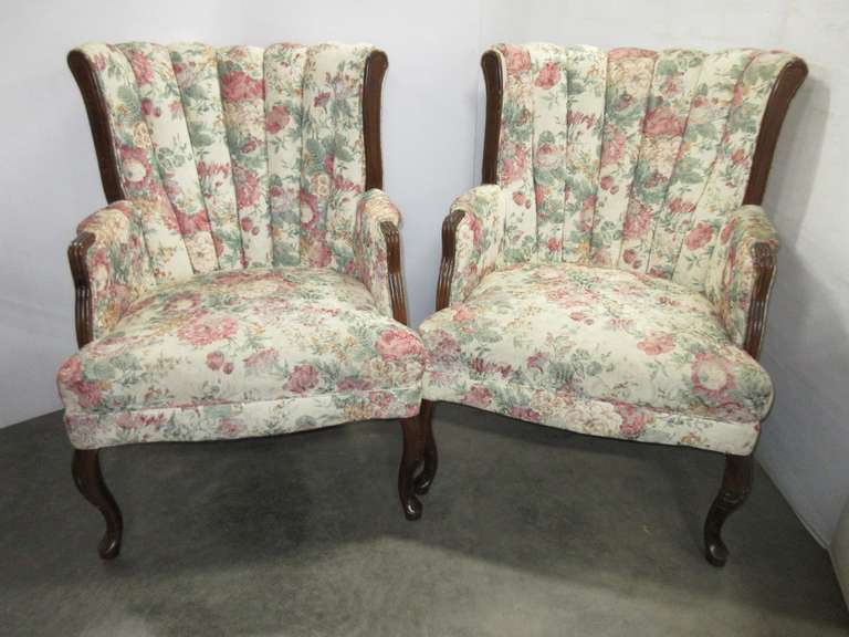 (2) Matching Upholstered Chairs