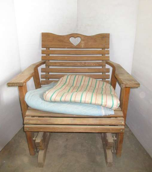 "Wooden rocking Chair, 29""W x 33""H"