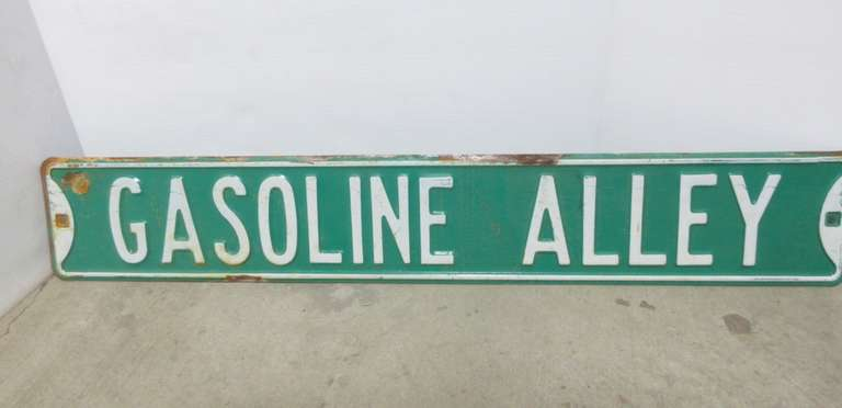 "Gasoline Alley 3/"" x 18/"" Metal Sign"