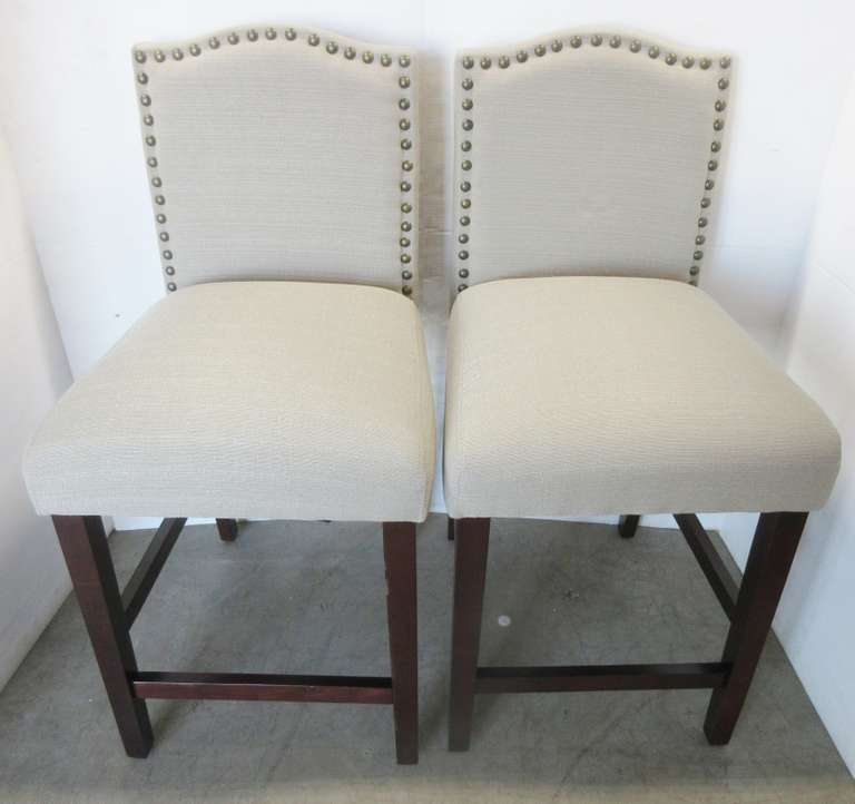 (2) Tan Counter Stools