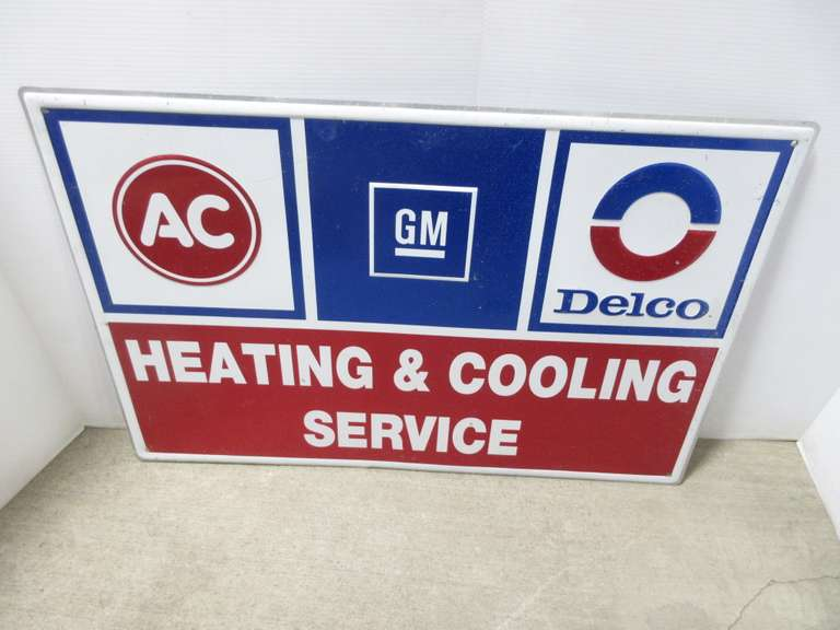 A.C. Delco Heating and Cooling Sign